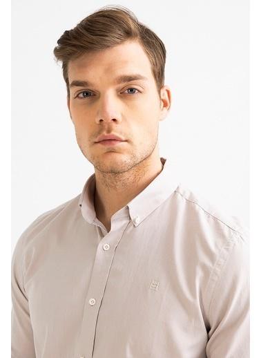 Avva Erkek  Oxford Klasik Yaka Gömlek A01S2272 Bej